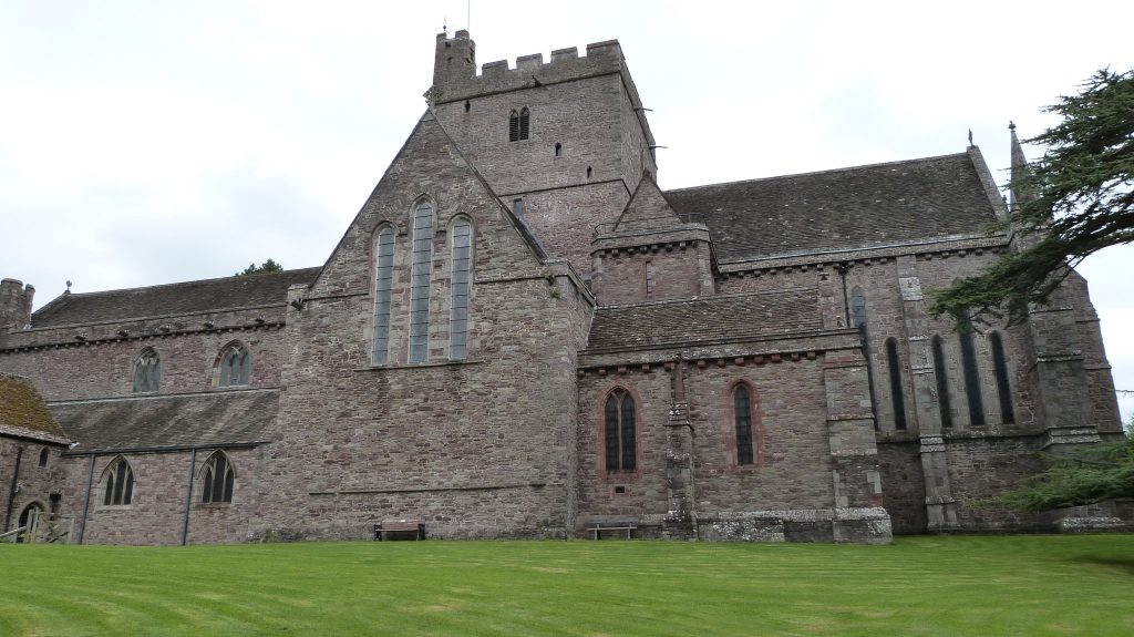 Brecon Cathedral and grounds