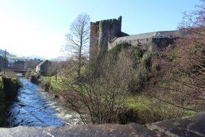 Brecon river and Brecon castle