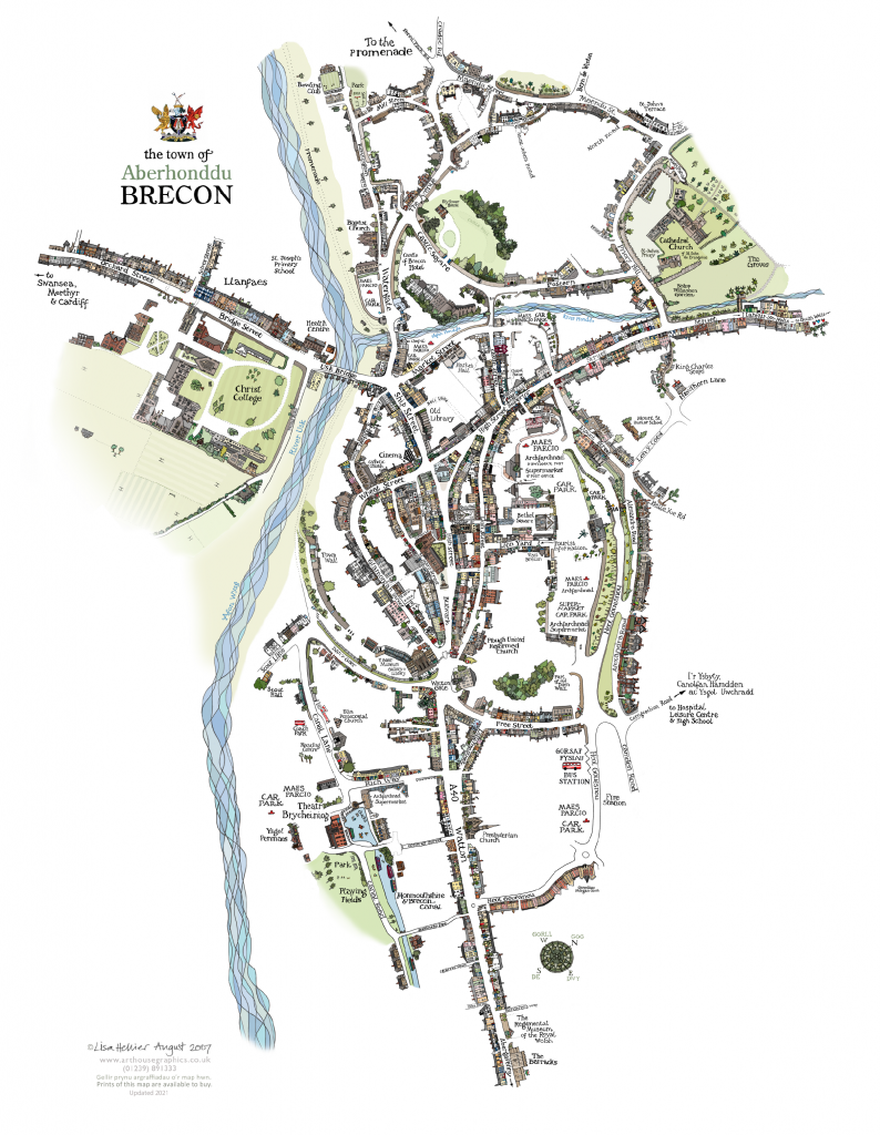 Brecon Town Map
